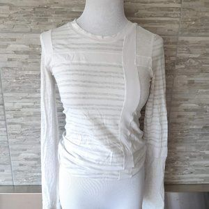 Lululemon white stripe shirt